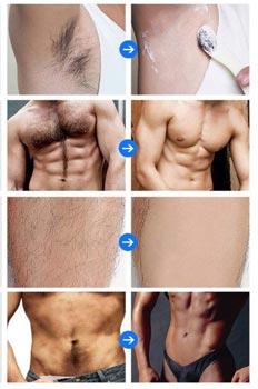 Migliore crema depilatoria uomo: aree da trattare